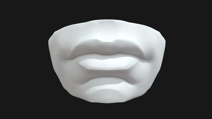 Human Mouth Sculpt Practice 3D Model