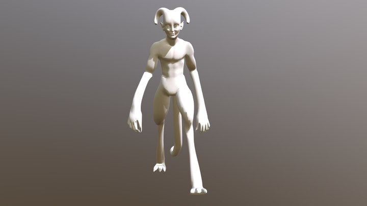 Animated Creature (Walking) 3D Model