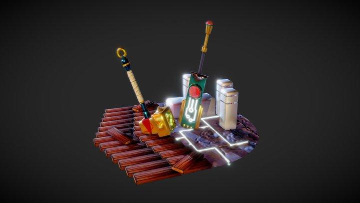 Bastion & Transistor Tribute 3D Model