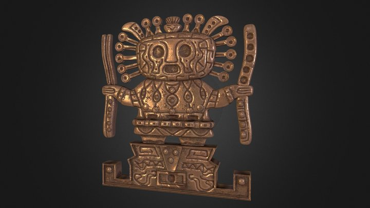 Viracocha Inca God 3D Model
