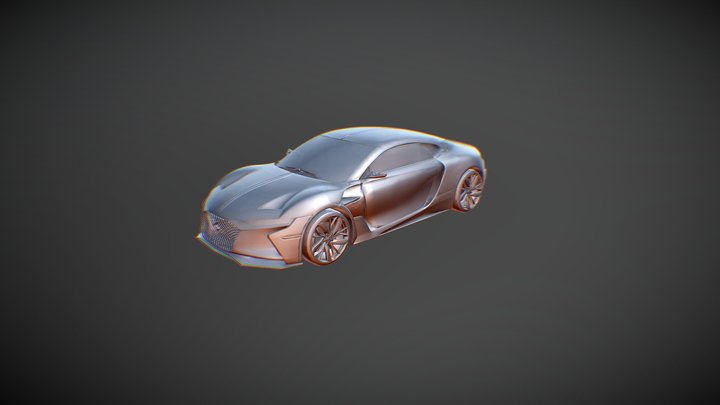 Citroen DS E Tense 3D Model