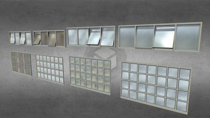 Factory windows pack 3 3D Model