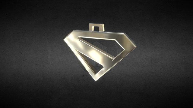 Superman Kingdom Come Pendant 3D Model