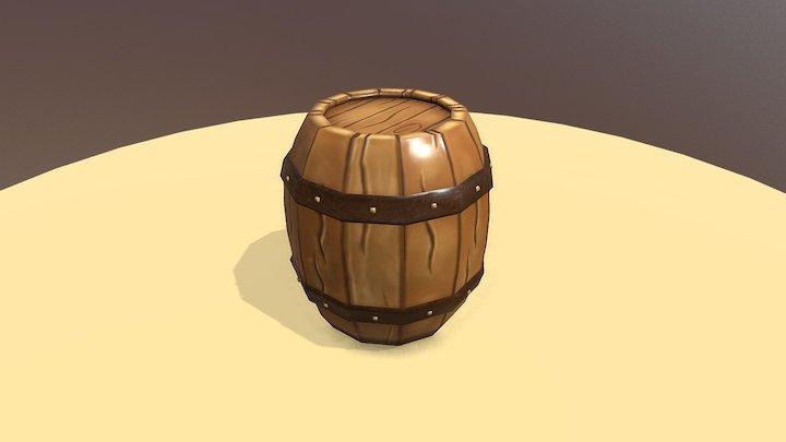 Cartoon Barrel 3D Model