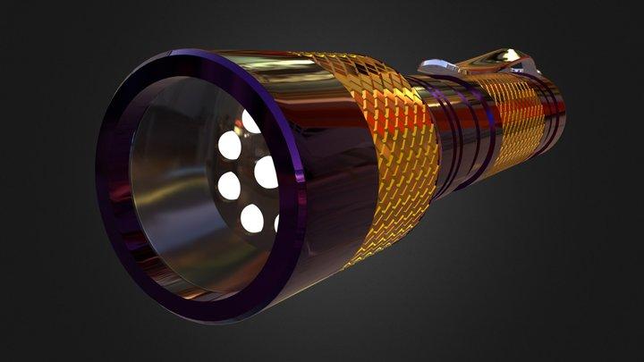Led Metal Flashlight 3D Model