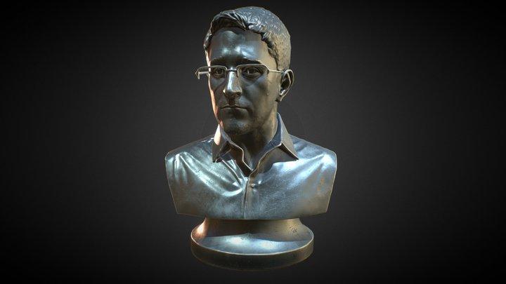 Statue Of Edward Snowden 3D Model