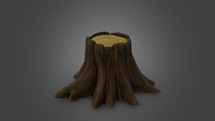 Stylized tree stump 3D Model
