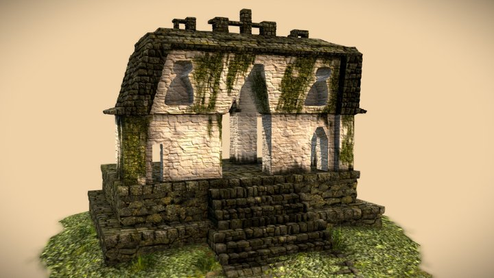 Temple of the Foliated Cross 3D Model