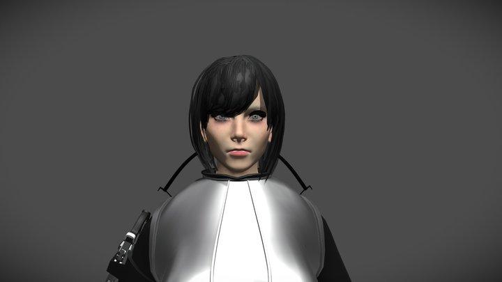 Fight Girl 3D Model