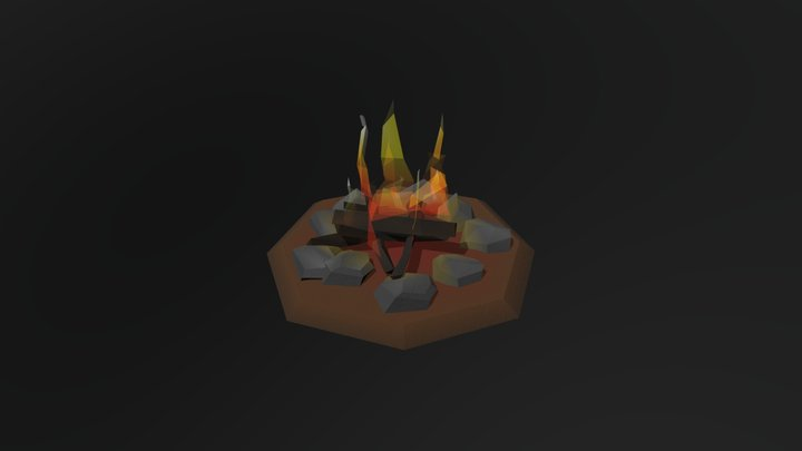 Stage Campfire 3D Model