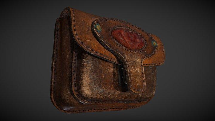 Vintage Leather Belt Bag 3D scan 3D Model