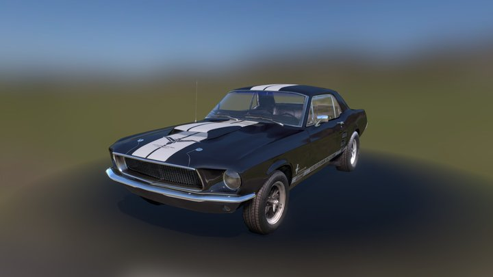 Midnight Mare, ACI's 1967 Ford Mustang 3D Model