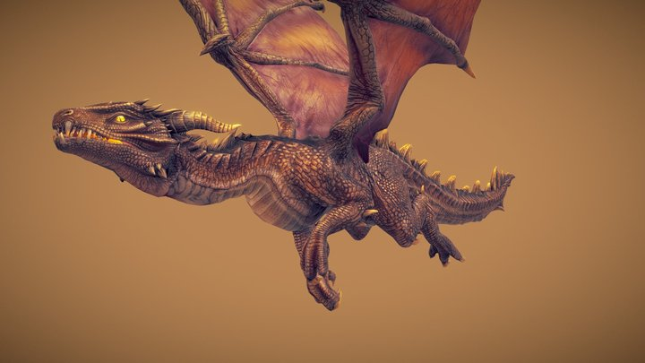 Unka the Dragon 3D Model