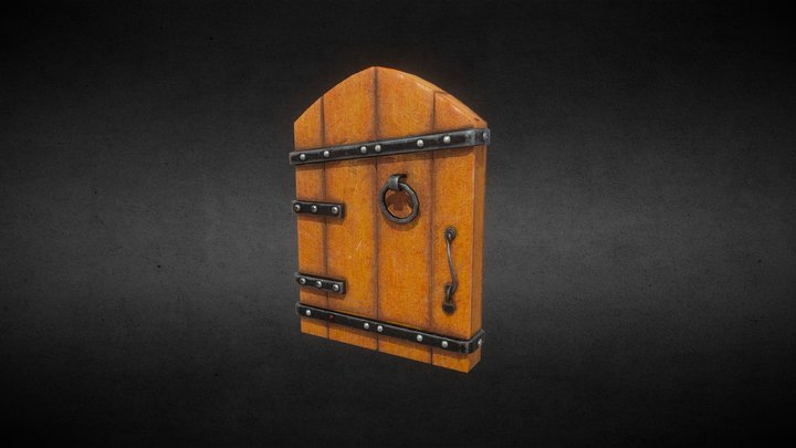 Hobbit house door 3D Model