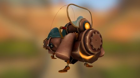 Steampunk Jetcycle 3D Model