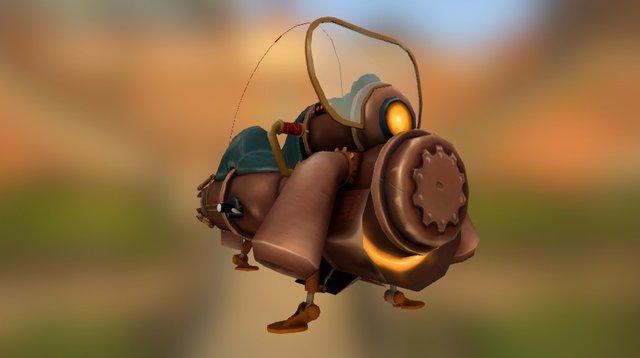 Steampunk Jetcycle 3D Model
