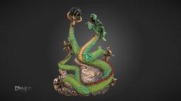 Dragon Statue Reimagined 3D Model