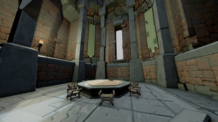 Round Table Room / assembled / Mozilla Hubs 3D Model