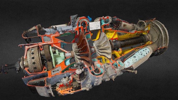 Jet engine photogrammetry - DART - Cranfield 3D Model