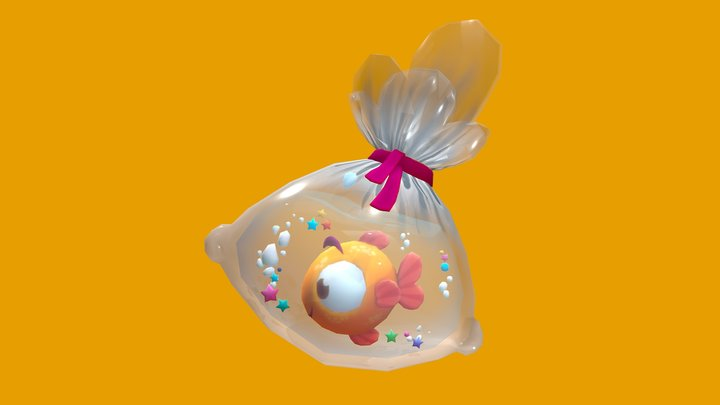 Fish in a bag! 3D Model