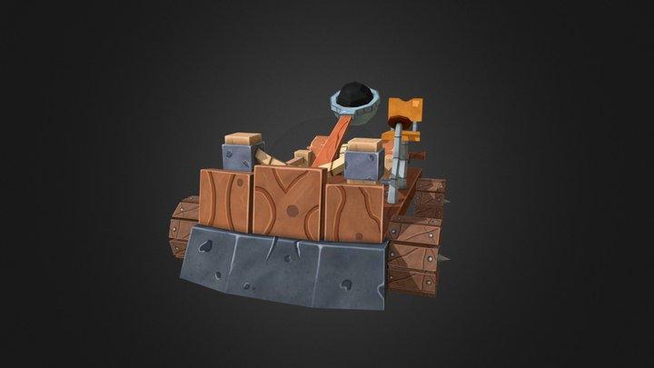 Human Catapult 3D Model