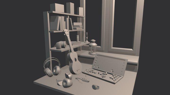 10 Things Naturmort 3D Model