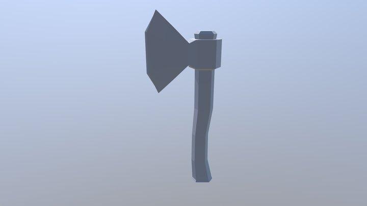 Hand Held Axe 3D Model