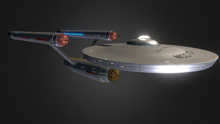 Original Enterprise Enhanced and Augmented 3D Model