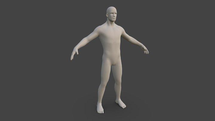 Clean Man Body T-Pose 3D Model