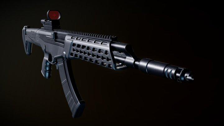 AK ALFA with reflex sight 3D Model