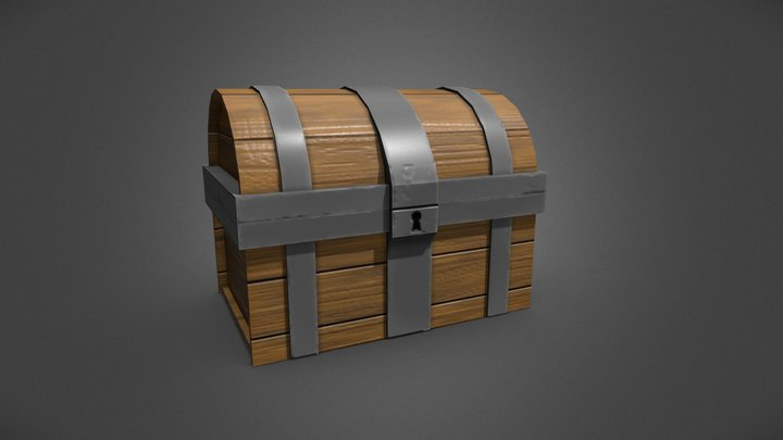 Low Poly Stylised Chest 3D Model