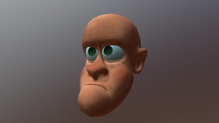 Alfred (low poly-UV-Topology) 3D Model