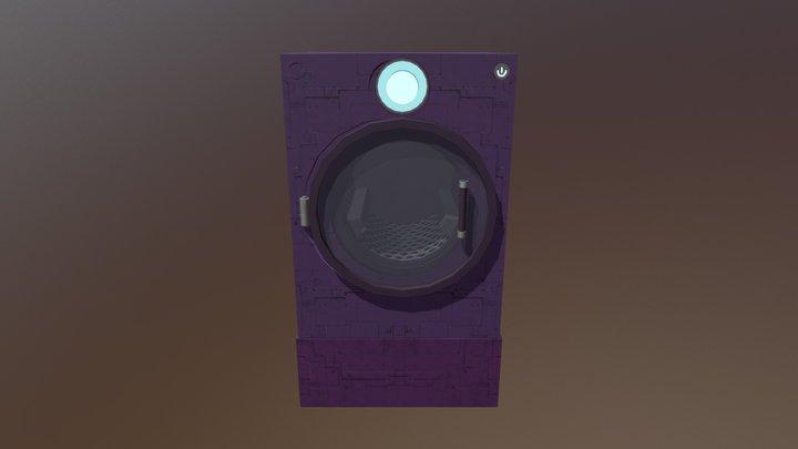 Washer Dryer Combo 3D Model
