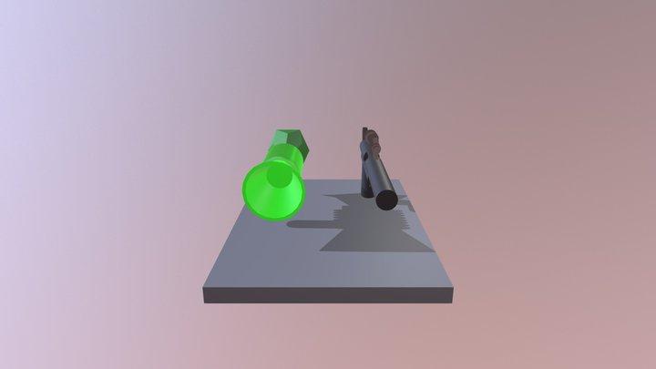 Arma LEGO Joker 3D Model