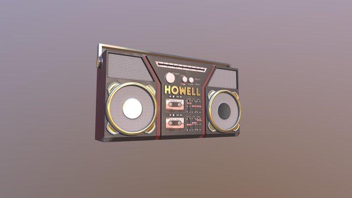 Boom Box 3D Model