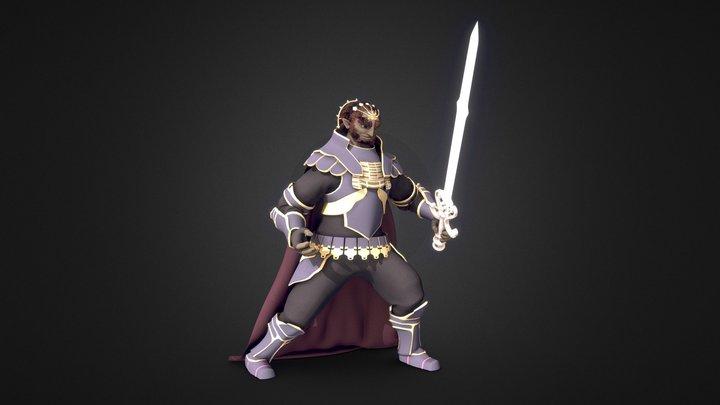 Ganondorf Full Rig 3D Model