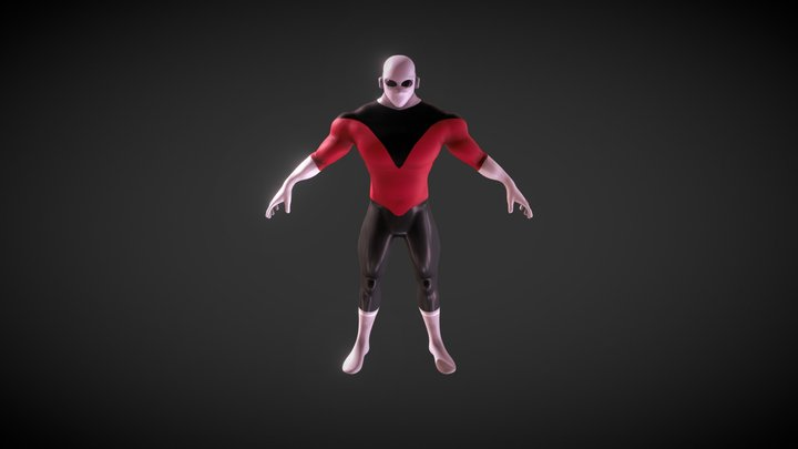 Jiren - Dragon ball super - Base 3D model 3D Model