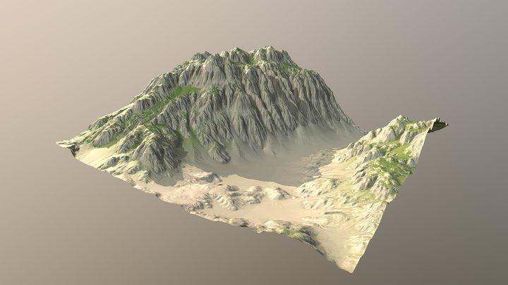 Big Ravine (WorldMachine Terrain #2) 3D Model
