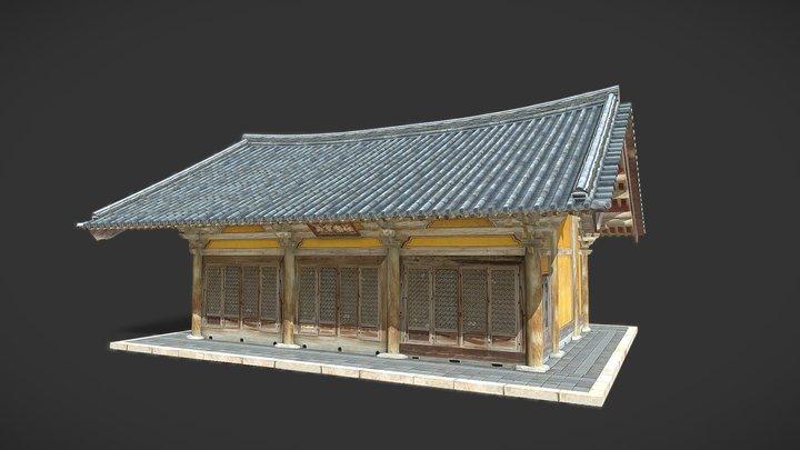 Korea National Treasure_013_강진 무위사 극락보전 3D Model