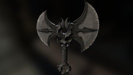 (WIP) Blizzard concept axe 3D Model