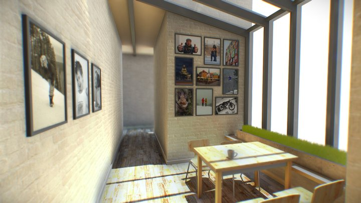 VR gallery - LIKE model if you Download it 3D Model