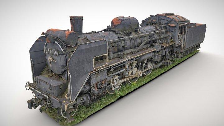 Steam Locomotive C58_356(japan) 3D Model