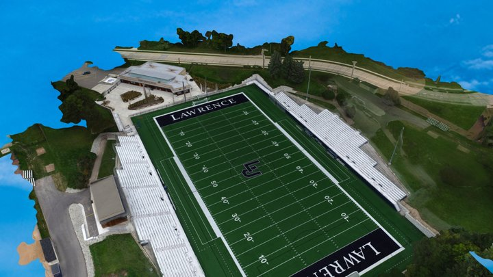 Lawrence U Football 3D Model