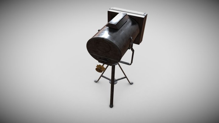 Bogenlampen-Scheinwerfer 3D Model