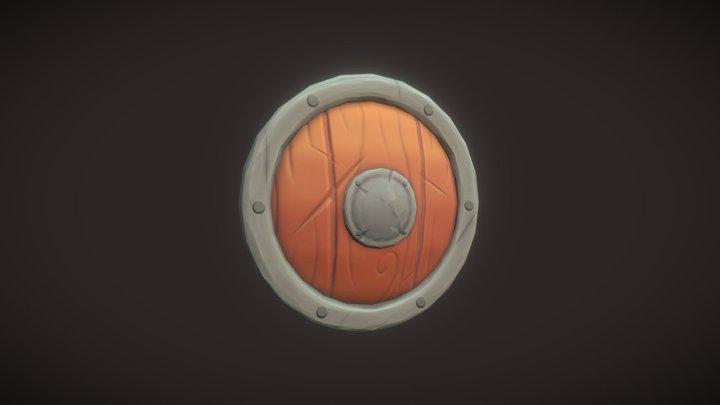 Wooden Shield 3D Model