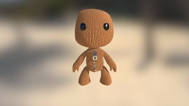 Sackboy Character 3D Model