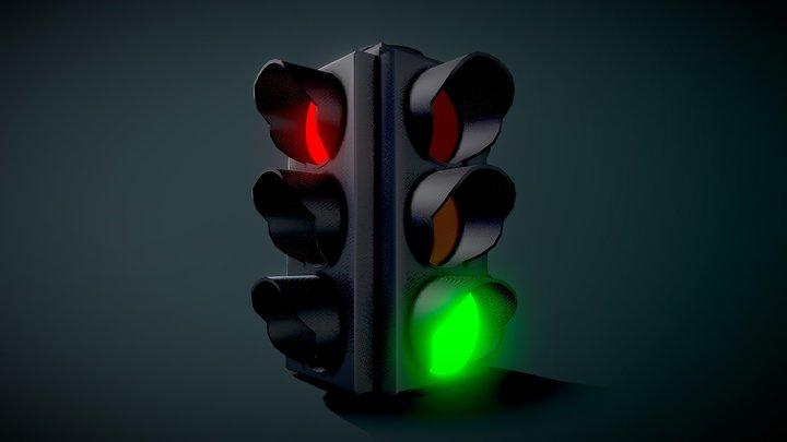 Traffic Light (Animation) 3D Model