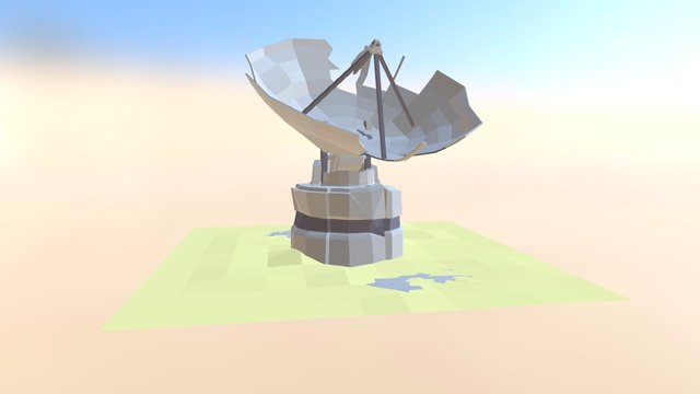 Low-Poly Satellite 3D Model