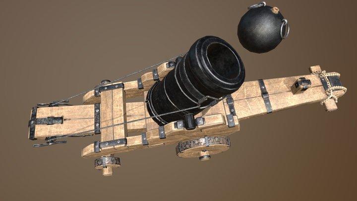 Mortira, Cannon, 3d 3D Model