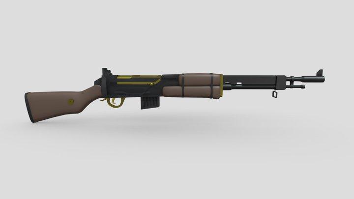 Brown M1 rifle 3D Model